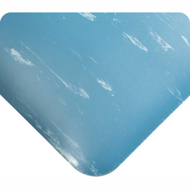 "Antimicrobial Tile Top Antifatigue Mat 7/8"" Thick 4 Ft Wide Full 60ft Blue"