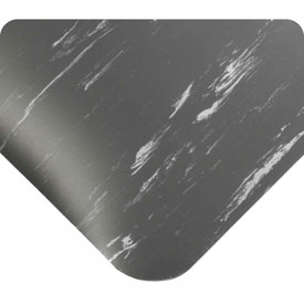 "Antimicrobial Tile Top Antifatigue Mat 1/2"" Thick 3 Ft Wide Up To 60 Ft Charcoal"