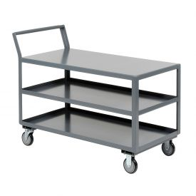 Jamco Three Shelf All-Welded Heavy Duty Service Cart LZ236 36x24 1200 Lb. Cap.