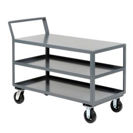 Jamco Three Shelf All-Welded Heavy Duty Service Cart LZ360 60x30 2000 Lb. Cap.