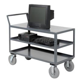 Jamco Three Shelf All-Welded Heavy Duty Service Cart LZ248 48x24 1200 Lb. Cap.