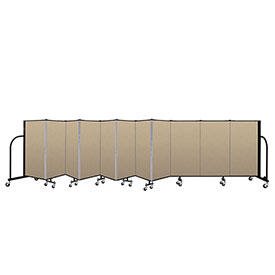 "Screenflex Portable Room Divider 11 Panel, 4'H x 20'5""L, Vinyl Color: Oatmeal"