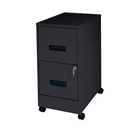 2 Drawer Mobile File-Black