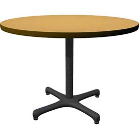 "42"" Round Café - Lunchroom - Restaurant Table - Oak"