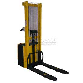 Vestil Fully Powered Stacker S-62-FF Fixed Forks Over Fixed Straddle Legs