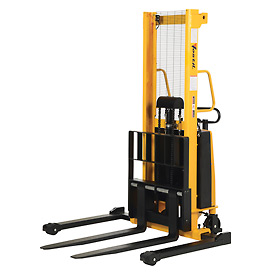 Vestil Battery Operated Lift Stacker SL-63-AA Adj. Forks Inside Adj. Legs