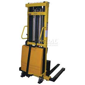 Vestil Battery Operated Lift Stacker SL-137-AA Adj. Forks Inside Adj. Legs