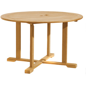 "Oxford Garden® 48"" Round Outdoor Dining Table - Teak"