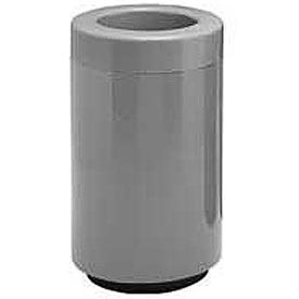 Fiberglass Waste Receptacle with Open Top - 32 Gallon Capacity Gray