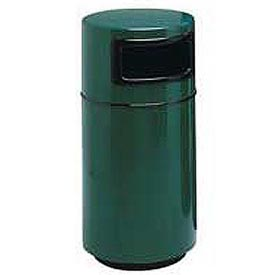 Fiberglass Trash Container with Dome Top - 25 Gallon Capacity Green