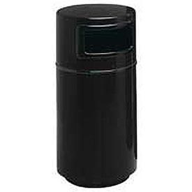 Fiberglass Trash Container with Dome Top - 25 Gallon Capacity Black