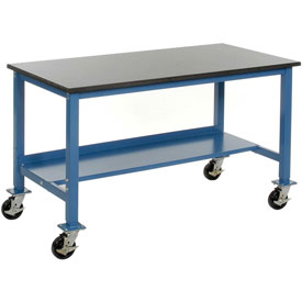"72""W x 36""D Phenolic Resin Safety Edge Mobile Lab Bench"