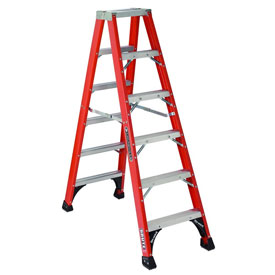 Louisville 5' Fiberglass Step Ladder - 375 lb Cap. - FS1405HD