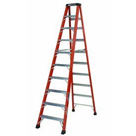 Louisville 10' Fiberglass Step Ladder - 375 lb Cap. - FS1410HD
