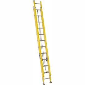 Louisville 24' Fiberglass Extension Ladder - 250 lb Cap. - FE1724