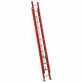 Louisville 24' Fiberglass Extension Ladder - 300 lb Cap. - FE322-4