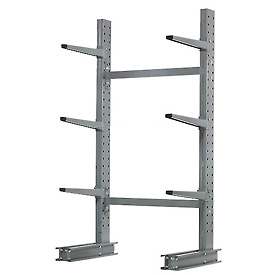 "Cantilever Rack Single Sided, Starter Unit Medium Duty, 48"" W  x 33"" D x  6' H, 8100 Lbs Capacity"