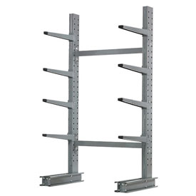 "Cantilever Rack Single Sided Starter Unit Medium Duty, 48"" W  x 33"" D x 8' H, 5300 Lbs Capacity"