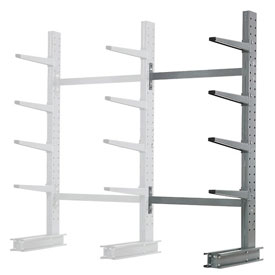 "Cantilever Rack Single Sided Add-On Unit Medium Duty, 48"" W  x 33"" D x 8' H, 5300 Lbs Capacity"