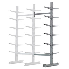 "Cantilever Rack Double Sided Add-On Unit Medium Duty, 72"" W  x 78"" D x 10' H, 7600 Lbs Capacity"