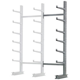 "Cantilever Rack Single Sided, Add-On Unit Medium Duty, 72"" W  x 45"" D x 10' H, 3800 Lbs Capacity"