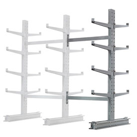 "Cantilever Rack Double Sided, Add-On Unit Medium Duty, 48"" W  x 54"" D x 8' H, 10600 Lbs Capacity"