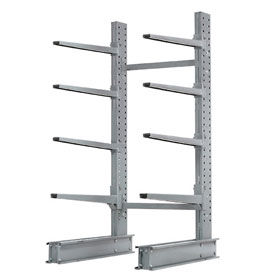 "Cantilever Rack Single Sided Starter Unit Heavy Duty, 48"" W  x 38"" D x 8' H, 13300 Lbs Capacity"