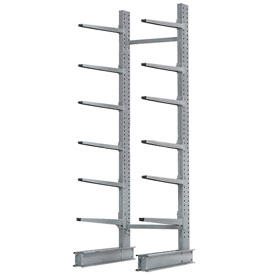"Cantilever Rack Single Sided Starter Unit Heavy Duty, 72"" W  x 52"" D x 12' H, 8500 Lbs. Capacity"