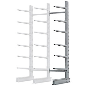 "Cantilever Rack Single Sided Add-On Unit Heavy Duty, 72"" W  x 50"" D x 10' H,10300 Lbs. Capacity"
