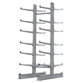 """Cantilever Rack Double Sided Starter Unit Heavy Duty, 72"""" W  x 107"""" D x 12' H,17000 Lbs Capacity"""