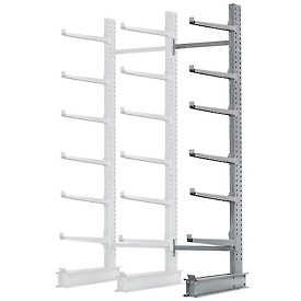 "Cantilever Rack Single Sided Add-On Unit Heavy Duty, 72"" W  x 50"" D x 10' H,10300 Lbs Capacity"