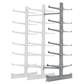"Cantilever Rack Double Sided, Add-On Unit Heavy Duty, 72"" W  x 107"" D x 12' H, 17000 Lbs Capacity"