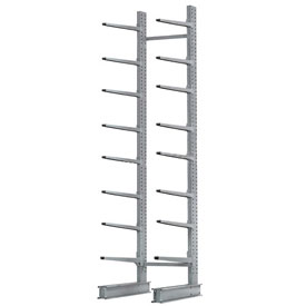 "Cantilever Rack Single Sided, Starter Unit Extra Heavy Duty, 72""W x61""D x 12'H, 12500 Lbs. Capacity"