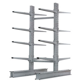 "Cantilever Rack Double Sided, Starter Unit Extra Heavy Duty, 48""Wx65""D x 8'H, 43000 Lbs. Capacity"