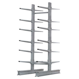 """Cantilever Rack Double Sided, Starter Unit Extra Heavy Duty, 72""""Wx82""""D x 10'H, 31600 Lbs. Capacity"""