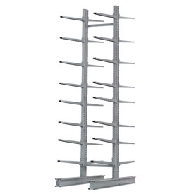"Cantilever Rack Double Sided, Starter Unit Extra Heavy Duty, 72""Wx106""D x 12'H, 25000 Lbs Capacity"