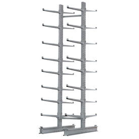 "Cantilever Rack Double Sided, Starter Unit Extra Heavy Duty, 72""W  x 106""Dx 12'H, 25000 Lbs Capacity"
