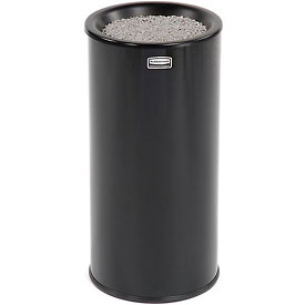 Rubbermaid® Round Sand Top Urn Ashtray - Black