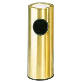 Round Sand Top Ash Trash Container Satin/Brass