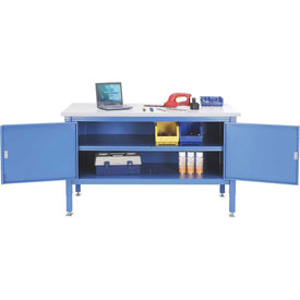 72 x 30 Security Cabinet Bench - Plastic Square Edge