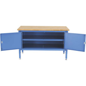 60 x 30 Security Cabinet Bench - Maple Square Edge