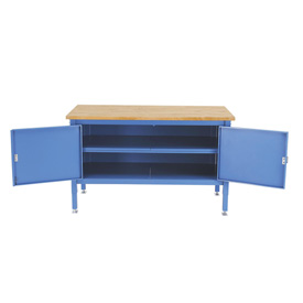 72 x 30 Security Cabinet Bench - Maple Square Edge