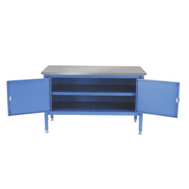 72 x 30 Security Cabinet Bench - Stainless Square Edge