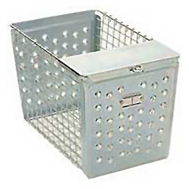 "Steel 9642 Locker Basket With Pilfer Guard 9""W"