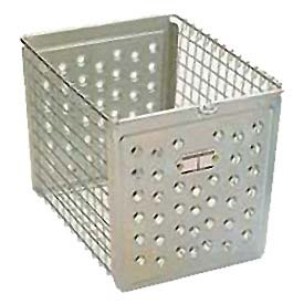 "Penco964-6 Perforated Front Steel Basket 9""W"