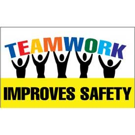 Banner, Teamwork Improves Safety, 3ft x 5ft