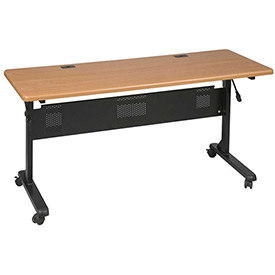 "Flipper Training Table, Rectangular, 72"" x 24"", Teak"