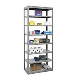 "Hallowell Steel Shelving  48""Wx24""Dx87""H Open Clip Style 8 Shelf"