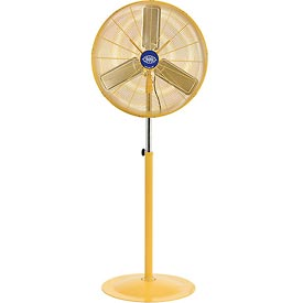 Deluxe Oscillating Pedestal Fan 30 Inch Diameter - Safety Yellow, 1/2HP, 10000CFM