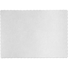 "Hoffmaster HFMPM32052 - Placemats, Knurl Embossed Scalloped Edge 9-1/2"" x 13-1/2"", White, Qty., 1000"